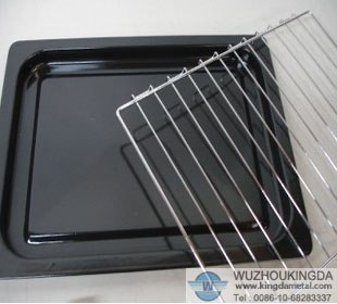 Stainless steel toaster oven rack