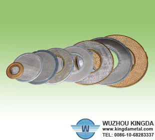 Stainless wire mesh filter discs