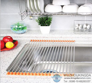 Steel Over Sink Dish Drainer