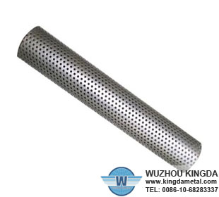 Steel perforated filter tube