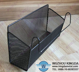 Wall mounted storage basket