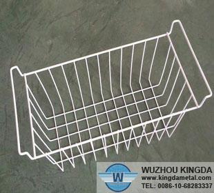 White Wire Freezer Storage Baskets White Wire Freezer