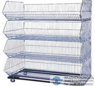wire basket shelving wire shelving wuzhou kingda wire. Black Bedroom Furniture Sets. Home Design Ideas