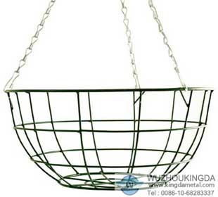 Wire Hanging Basket Stainless Steel Hanging Basket Wuzhou