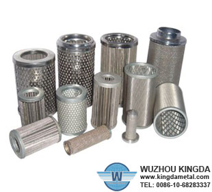 Wire mesh stainless filter elements