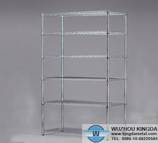 Wire shelf organizers stackable