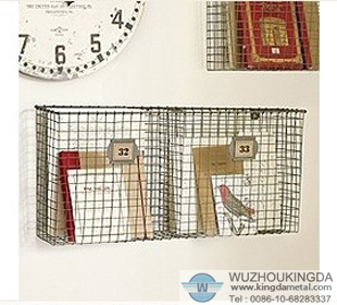 Woven Wire Wall Pocket Organiser Is A Design Suitable For Most  Environments, Home Or Office To Contain Magazines, Newspapers, Books And  Other Things.
